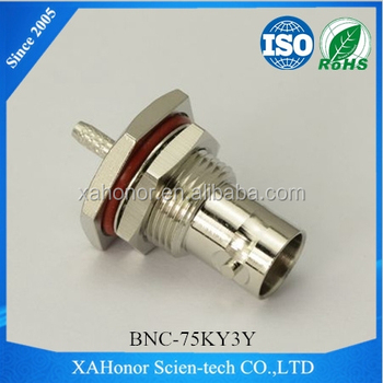 BNC connector 75ohm female straight crimp for cable SYV-75-2