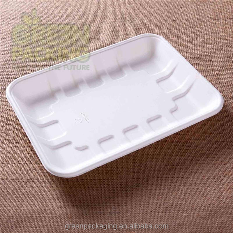 Bagasse biodegradable meat tray
