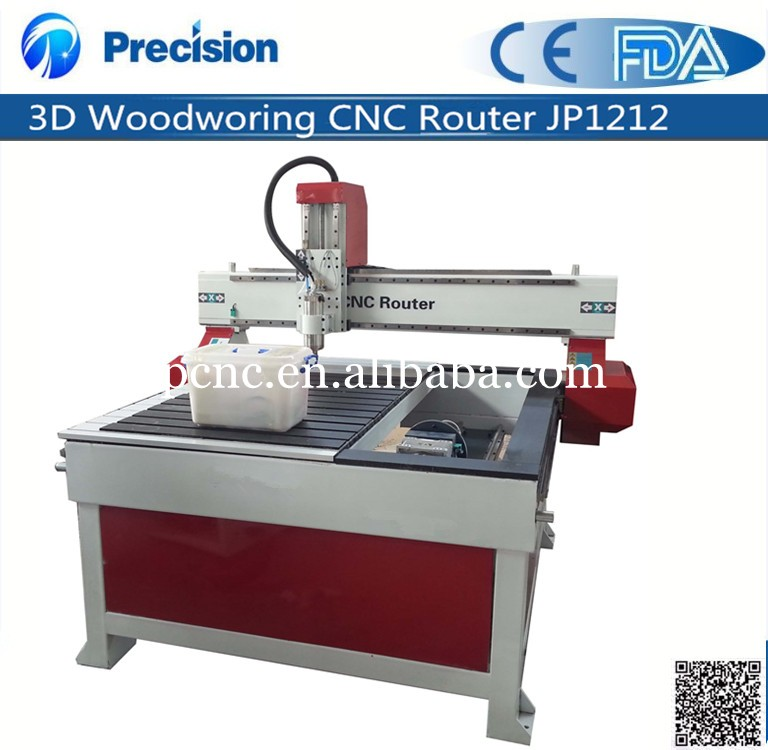 3D 4 axis rotary wooden sculpture cnc router/furniture/chair/desk/bed/sofa legs making machine JP1212