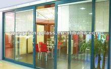 The office modern entry door glass inserts