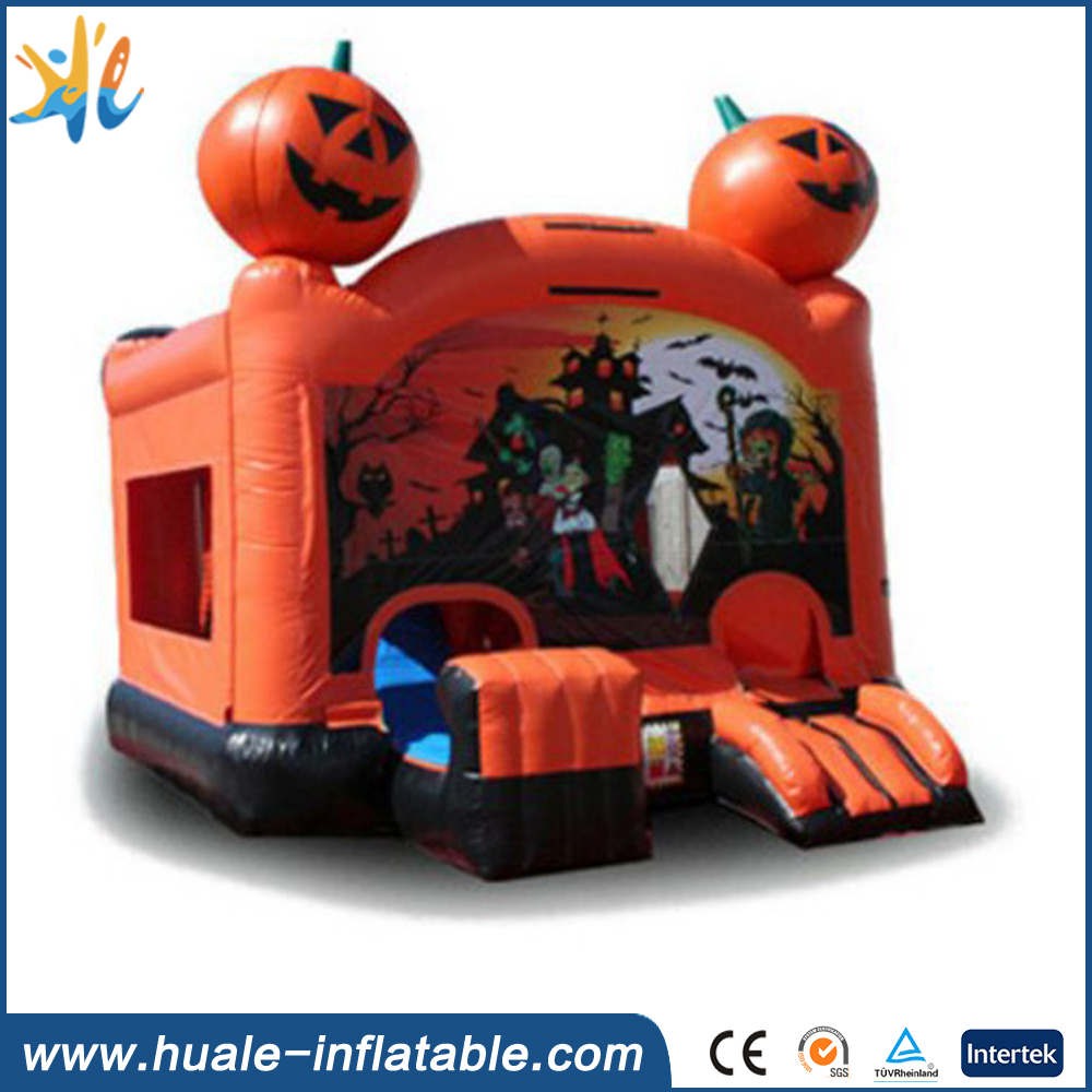 Halloween Inflatable Bounce House/ Inflatable Haunted Pumpkin Castle for Sale