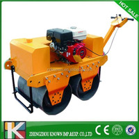 walk behind double drum vibratory road roller with good price