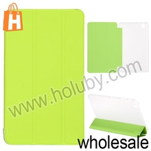 2014 Toothpick Grain Pure Color Tri-fold Stand PU+PC Flip Leather Case Cover for Samsung Galaxy Tab Pro 8.4 T320