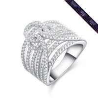 JR0108-Best Quality Private Crystal Midi Silver Rings For Ladies White Gold Color Finger Ring
