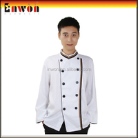 Fashion designer poly cotton restaurant women sexy chef uniform