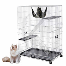 Large Cat Pets Wire Cage 2 Door Playpen