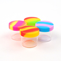Home storage boxes silicone container wax smoking bho oil jar glass container with silicone lid