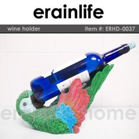 Parrot animal decorative resin Wine Holder