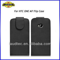 Flip Leather Case for HTC ONE M7, Leather Case Cover Laudtec