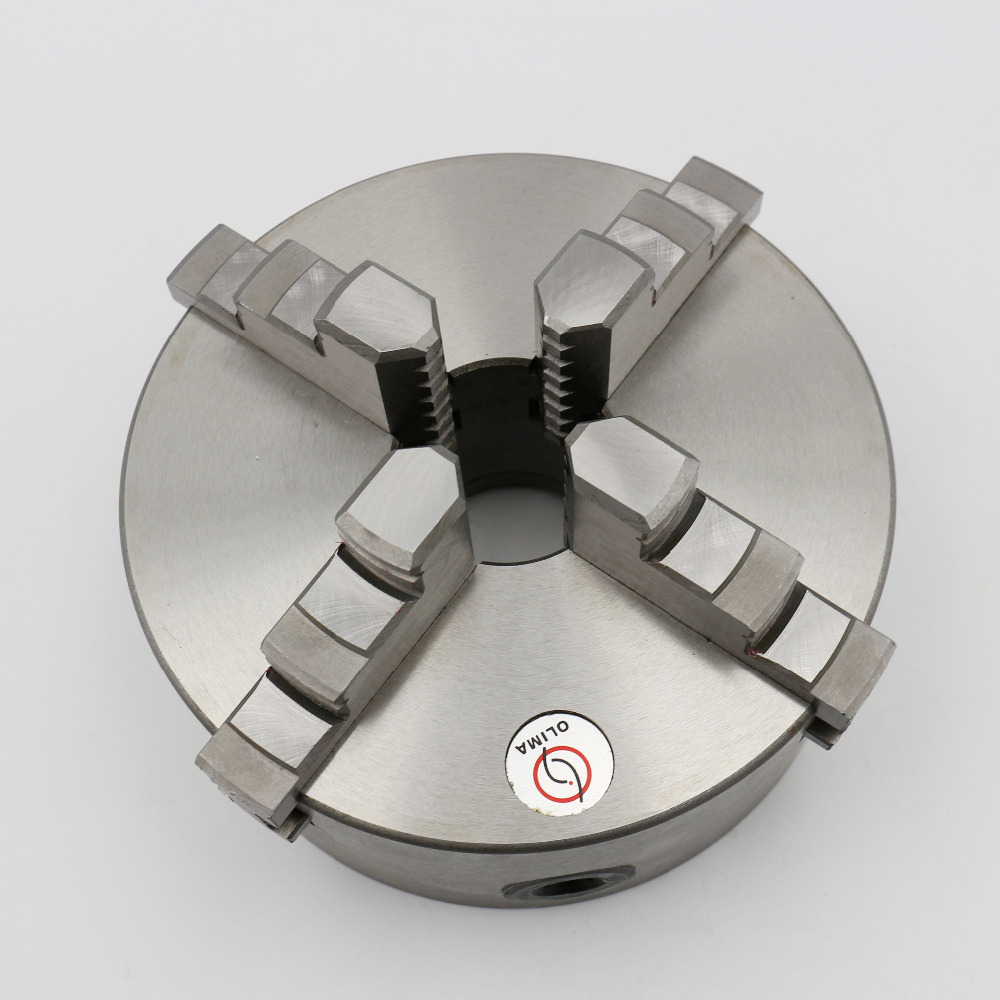 CNC Dia.100mm Cylinder Center Mounting 4-Jaw Self-Centering Chuck For 4th Axis