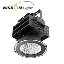 UL DLC 5 years warranty IP67 300W 500W 1000W die cast aluminum led round flood light housing
