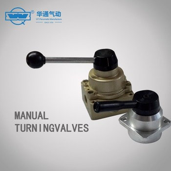 Q24R8-10 4/3-ways manual hand control solenoid valve