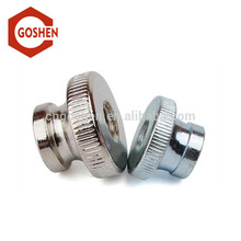 Factory price flat Knurled nuts with collar