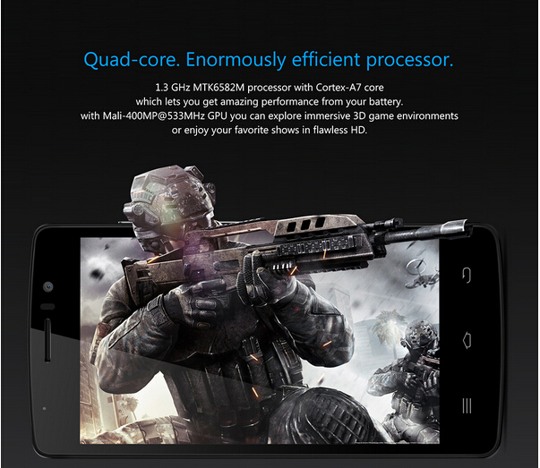 "Hot!!!THL 4000 4.7"" IPS QHD Android 4.4 MTK6582M Quad Core 3G Mobile Cell Phone 5MP CAM 1GB RAM 8GB ROM OTG WCDMA"
