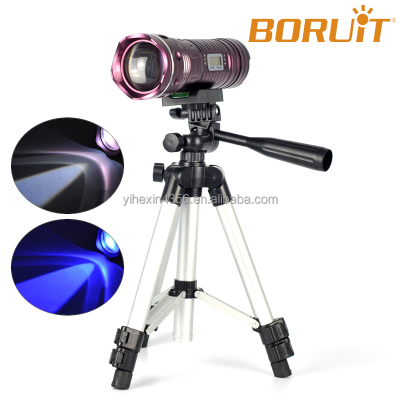 Tripod Support CREE Q5 LED Flashlight 6 Models Torch Fishing Light