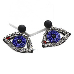 Exaggerated mask eyes earrings female with the Funny face earrings retro lips earrings