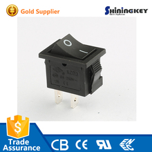 250V AC 6A t85 2pin SPST black on off Rocker tumbler switch