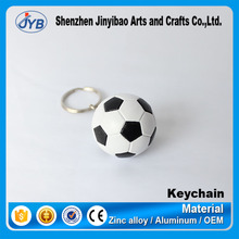 Funny cute UK keychain cusotm cheap PU soccer and football keyring for Soccer League