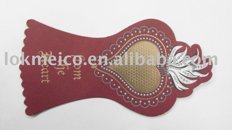 Speical Shape & Hot Foil Printing Hang Tag