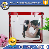 acrylic vase with photo frame, clear acrylic bed/block photo frame