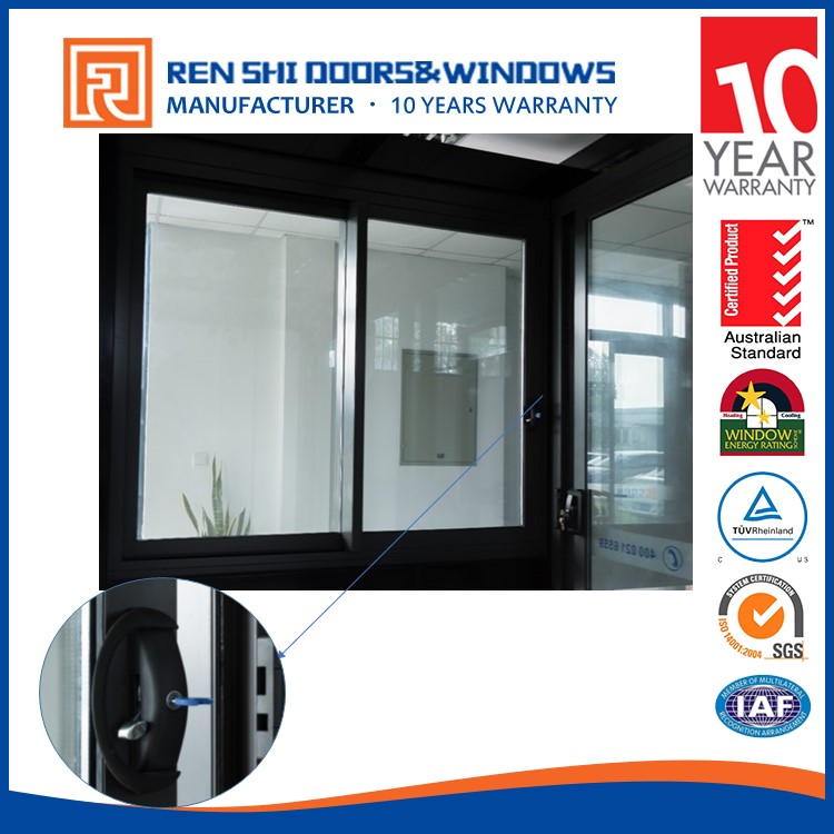 AS2047 aluminum sliding window with grill design and mosquito net