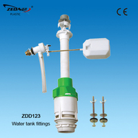 Toilet water tank accessories ,Plastic toilet WC pan flush cistern fitting,Flush valve