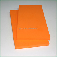 2016 orange color polyurethane foam sheet malaysia/price of polyurethane foam sheet