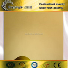 Factory sale gold mirror stainless steel sheet or steel mirror board with high quality