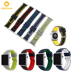 Newest Two color Smart Watch Band for iwatch band silicone for Apple Rubber Watch Strap