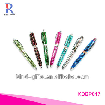 Hot Sale Bling Rhinestone Pen Set With Crystal China Factory