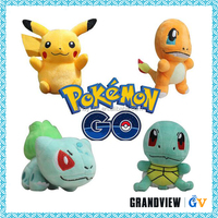 Top Quality Lovely Pokemon Go (Bulbasaur,Squirtle,Charmander) Plush Stuffed Toys