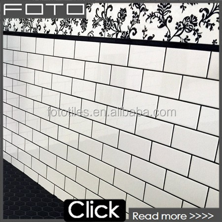 Ceramic subway 3x6 bathroom tiles for the wall