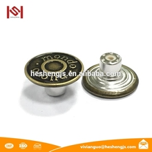 Anti-Brass/Green Uses Of Palm Kernel Shell Jeans Buttons