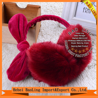 2016 Winter Big Size Faux Fox Fur Earmuffs Ear Muff Artificial Raccon Fur Warm Ear Cover Ladies Earmuffs