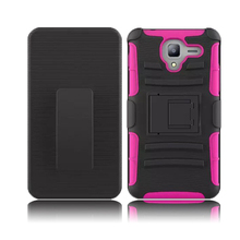 3 in 1 holster combo hybrid kickstand cover case for kyocera hydro view with belt clip and holster