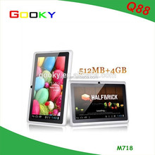 OEM wifi 7 inch q88 firmware android 4.0 tablet pc