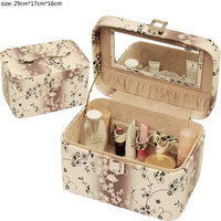 reasonable pu leather pu cosmetic case for woman