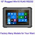 "Cheap Factory 10.1"" fully ruggedized tablets built-in RJ45 ethernet and RS232 serial port ultra rugged vehicle mount computer"