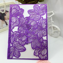 Custom Logo Paper Wedding Invitations Laser Cut Cards