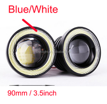 2.5'' 3'' 3.5'' 10w super bright car led angel eyes headlights with cob halo rings