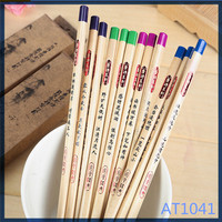 2016 new arrival stationery products in yiwu eco black colored cheap wholesale fancy pencil