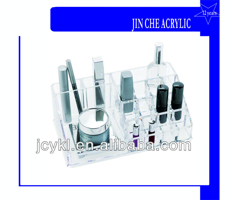 Clear Acrylic Containers for Cosmetics Storage