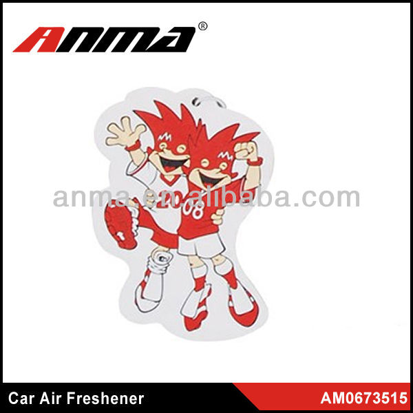 customer design soccer air freshener /luxury car air freshener