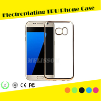 2016 New arrival clear electroplating tpu case for samsung galaxy s7/ s7 edge