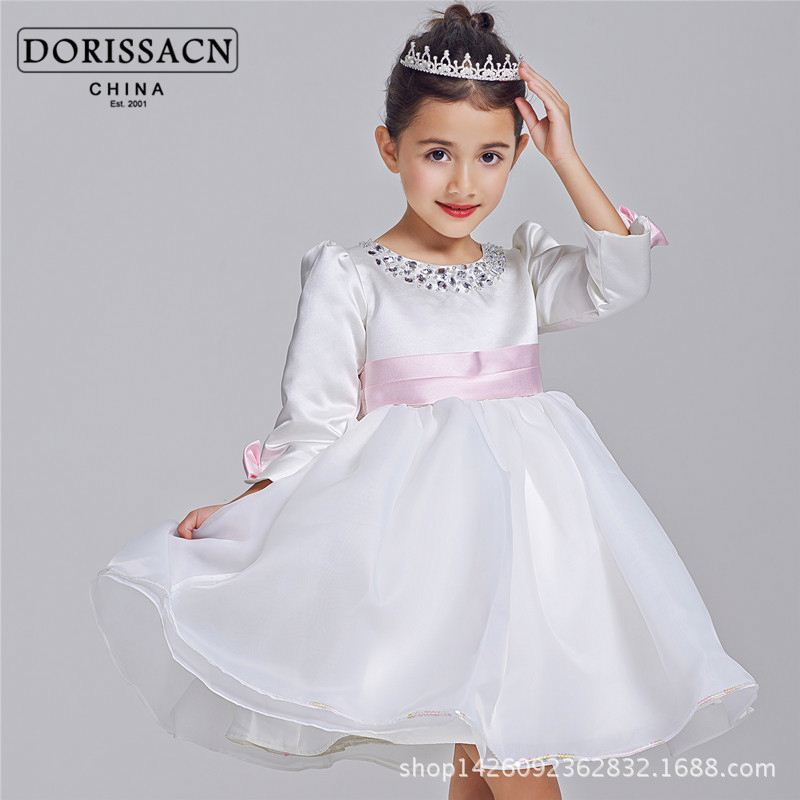 breathable baby clothing fluffy girls party dress rajasthani kids dresses flower girl dress 2-10 year