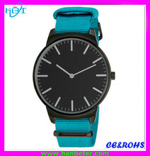 Hotselling luxury men nylon strap watch custom made watch dial with your own logo
