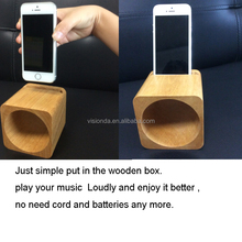 Mini wooden amplifier for smart phone