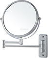 round mounted makeup mirror with led
