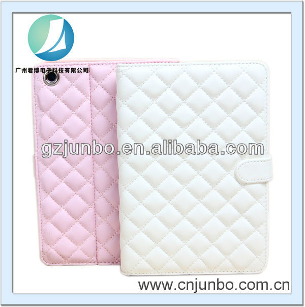 Luxury Quilted Leather Case For iPad Mini