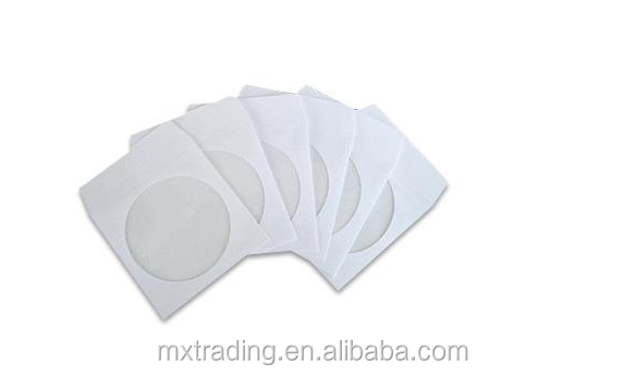CD DVD White Paper Sleeve with Clear Window and Flap Envelopes